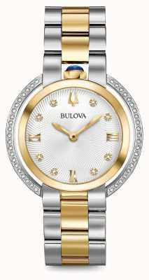 Bulova Montre diamantée à deux tons rubaiyat pour femme 98R246