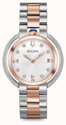 Bulova Montre diamantée à deux tons rubaiyat pour femme 98R247