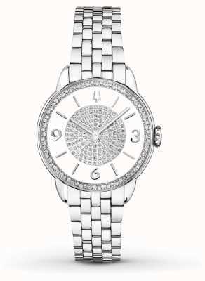 Bulova Montre en diamant en acier inoxydable en diamant 96R184