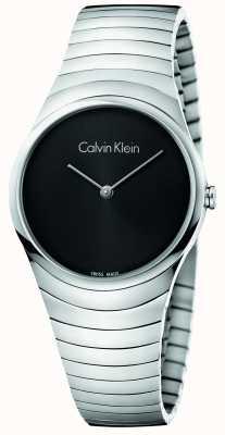 Calvin Klein Montre à spirale en acier inoxydable en argent Womans K8A23141