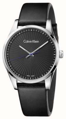 Calvin Klein Montre sans fin pour homme noir K8S211C1