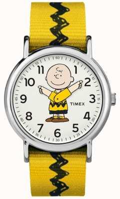 Timex Weekender charlie brown cacahuètes courroie jaune TW2R411006B