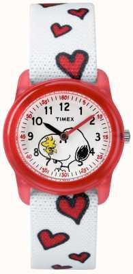 Timex Jeune analogique blanc sangle snoopy coeurs TW2R41600JE