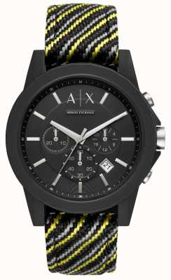 Armani Exchange Bracelet en silicone des outerbanks pour hommes AX1334