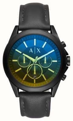 Armani Exchange Bracelet en cuir drexler pour homme AX2613