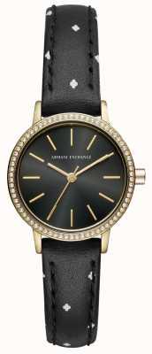 Armani Exchange Bracelet en cuir lola pour femme AX5543