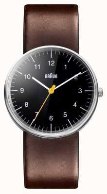 Braun Montre à bracelet en cuir marron pour homme BN0021BKBRG