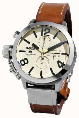 U-Boat Classico 50 tungsteno cas2 / un bracelet en cuir marron automatique 7433/A