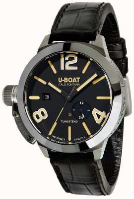 U-Boat Bracelet en cuir noir automatique Stratos 45 bk 9006