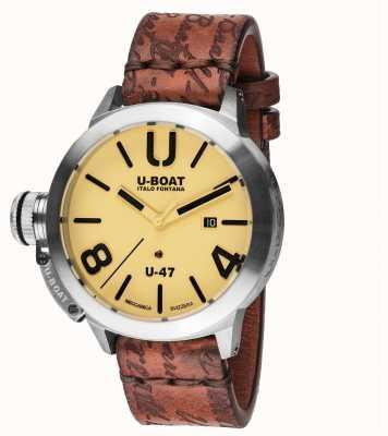 U-Boat Bracelet en cuir marron automatique Classico 47 as2 8106