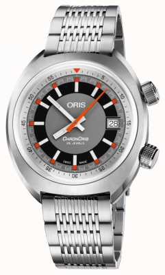 Oris Chronoris date cadran gris bracelet en acier inoxydable 01 733 7737 4053-07 8 19 01