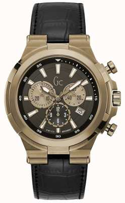 Gc Mens structura sport chic chronographe bronze Y23012G2