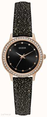Guess Womens chelsea ronde montre en or rose W0648L22