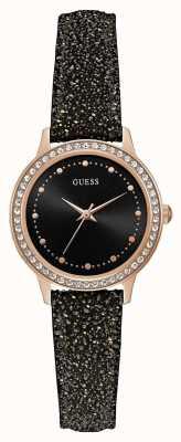 Guess Womens chelsea ronde montre en or rose W0648L22