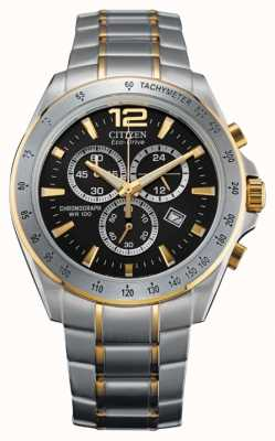 Citizen Eco-drive chronographe deux tons AT2074-58E