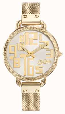 Jean Paul Gaultier Womens index or pvd maille cadran argent JP8504309