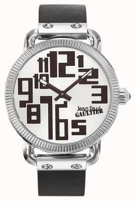 Jean Paul Gaultier Bracelet en cuir noir avec index pour homme JP8504405