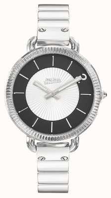 Jean Paul Gaultier Womens index bracelet en acier inoxydable cadran argent JP8504301