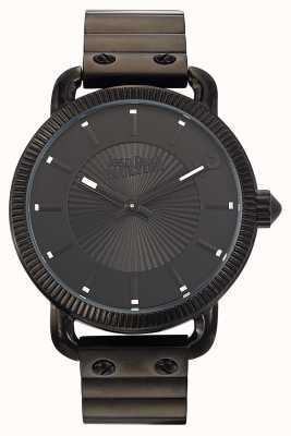 Jean Paul Gaultier Bracelet homme en acier inoxydable noir index noir JP8504402