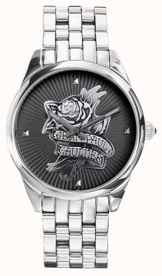 Jean Paul Gaultier Bracelet en acier inoxydable bleu marine tatoo JP8502407