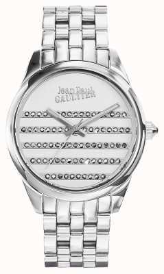 Jean Paul Gaultier Bracelet en acier inoxydable bleu marine JP8502404