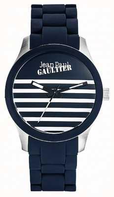 Jean Paul Gaultier Enfants terribles bracelet en acier bleu caoutchouc cadran bleu JP8501118