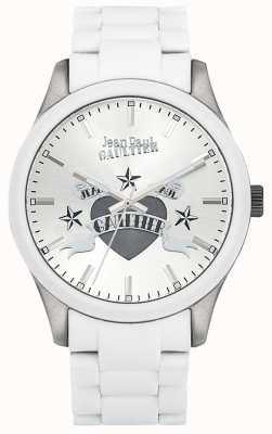 Jean Paul Gaultier Cadran blanc en acier en caoutchouc blanc pour enfants terribles JP8501123