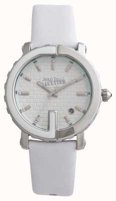 Jean Paul Gaultier Womens point g bracelet en cuir blanc cadran blanc JP8500506