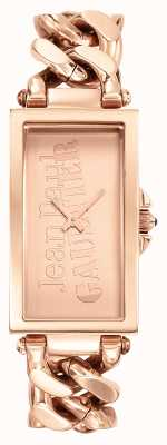 Jean Paul Gaultier Enchainee rose or pvd bracelet or rose cadran JP8500904