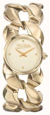 Jean Paul Gaultier Womens maxi chaine or pvd bracelet or cadran JP8504602