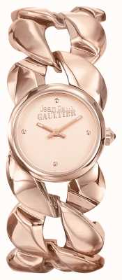 Jean Paul Gaultier Womens maxi chaine or rose bracelet pvd or rose cadran JP8504603