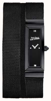 Jean Paul Gaultier Womens cote de maille noir pvd maille bracelet cadran noir JP8503905