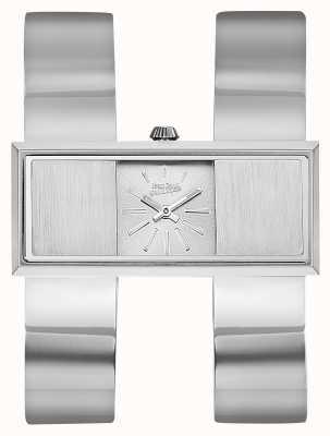 Jean Paul Gaultier Womens double jeu bracelet en acier inoxydable cadran argent JP8505005