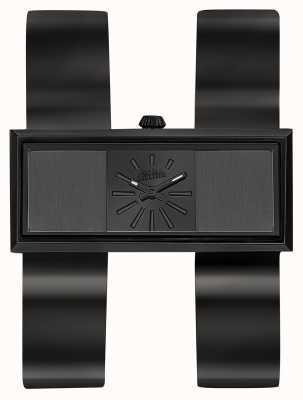 Jean Paul Gaultier Womens double jeu noir bracelet pvd cadran noir JP8505007