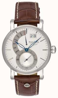 Bruno Sohnle Montre Pesaro ii 43mm en cuir marron 17-13073-283