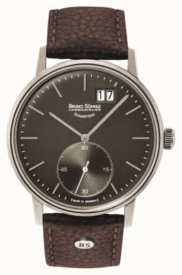 Bruno Sohnle Stuttgart ii Montre en cuir marron 42mm 17-13179-841
