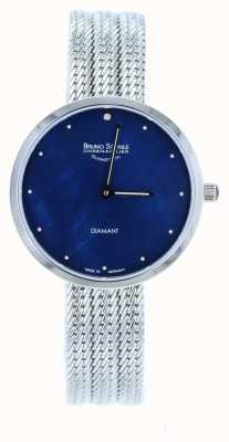 Bruno Sohnle Nofrit 34mm montre en maille d'acier inoxydable 17-13171-350