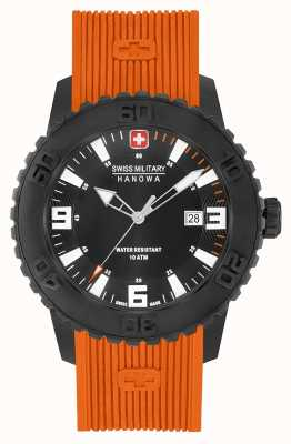 Swiss Military Hanowa Montre silicone twilight ii orange pour homme 06-4302.27.007.79