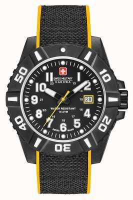 Swiss Military Hanowa Bracelet en silicone noir pour homme 06-4309.17.007.79SM