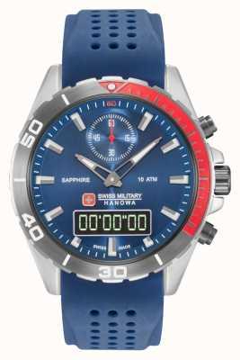 Swiss Military Hanowa Cadran bleu multimission bleu silicone bleu 06-4298.3.04.003