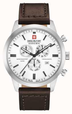 Swiss Military Hanowa Bracelet chrono classique en cuir marron pour homme 06-4308.04.001