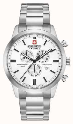 Swiss Military Hanowa Chronographe classique en acier inoxydable pour homme 06-5308.04.001