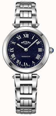 Rotary Womens kensington minuit ciel en acier montre à quartz LB05190/67