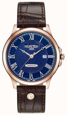 Roamer Bracelet en cuir marron windsor pour homme 706856494207