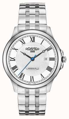 Roamer Bracelet en acier inoxydable à cadran blanc windsor pour homme 706856411270