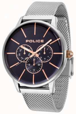 Police Bracelet en maille or rose Swift avec cadran noir 14999JS/03MM