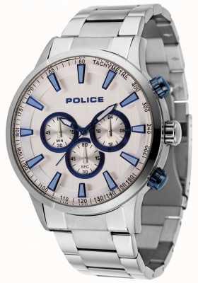 Police Bracelet Momentum en acier avec cadran argenté 15000JS/04M