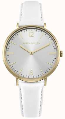 Karen Millen Cadran blanc soleil avec bracelet en cuir blanc KM163WG
