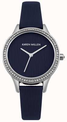 Karen Millen Cadran texturé en cuir bleu marine KM165U