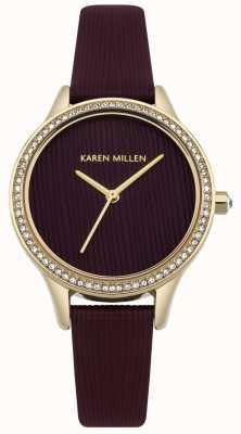 Karen Millen Cadran texturé en cuir de mûrier KM165VG